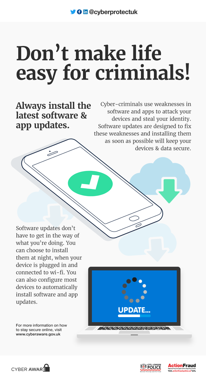 Do update your software and apps