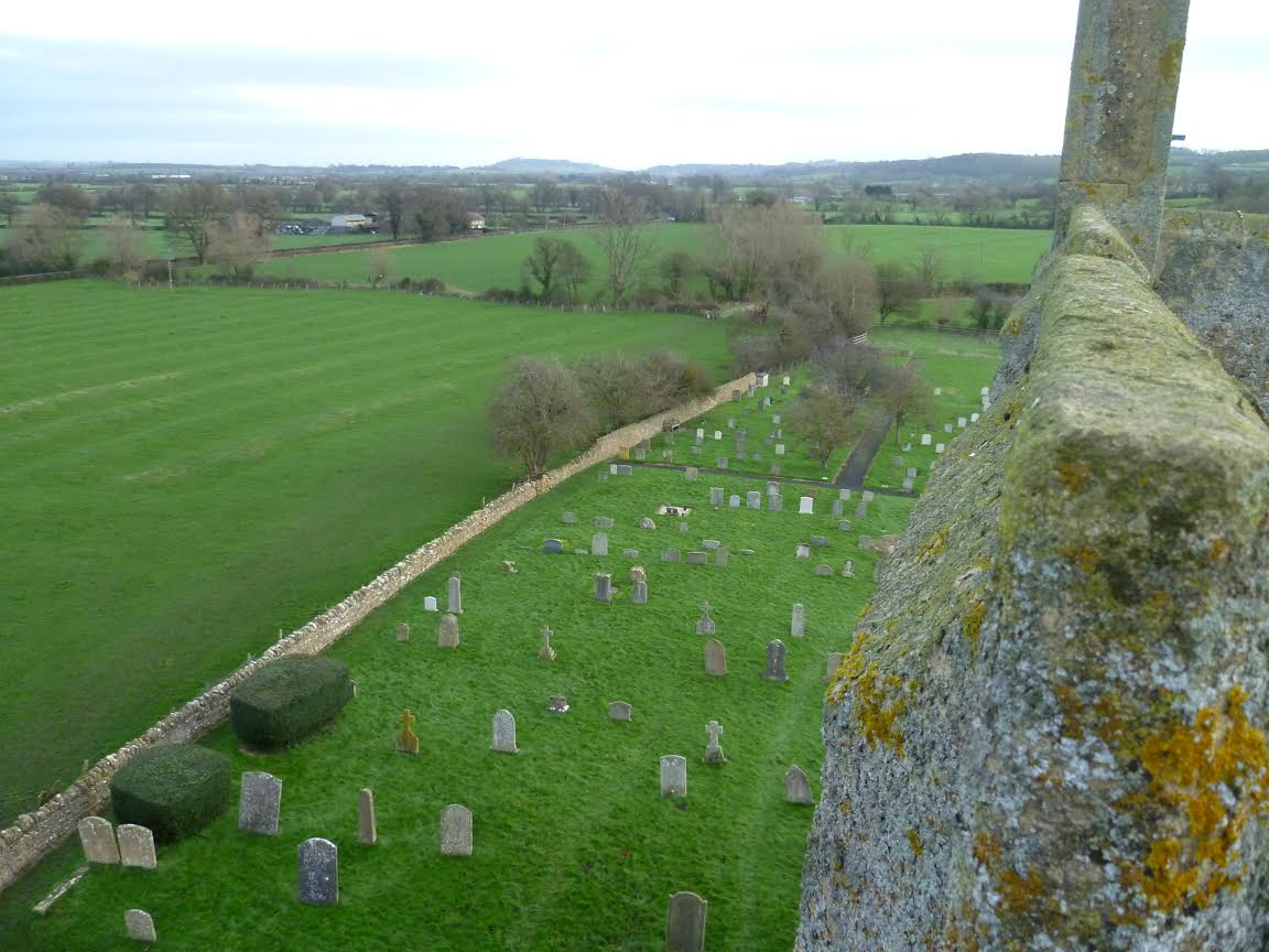 Willersey Cemetery from church tower