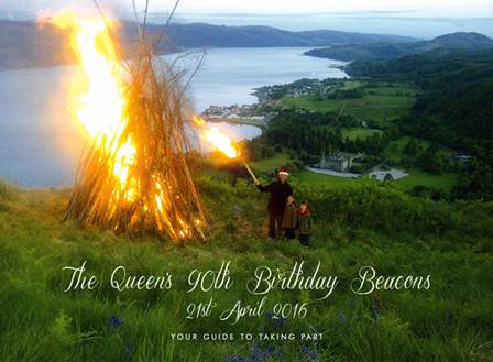 Queens 90th birthday bonfire