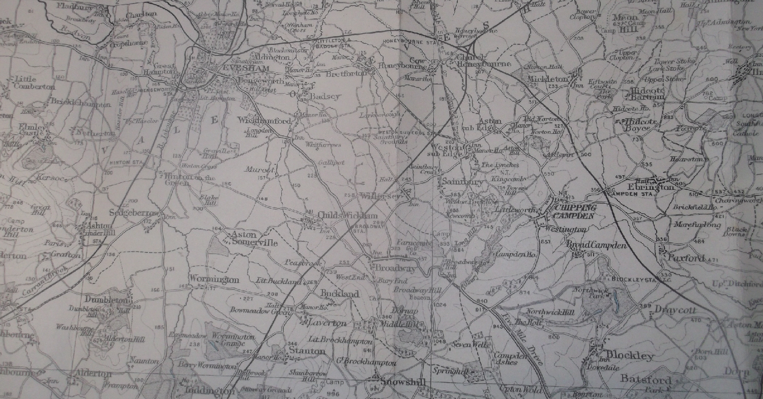 1935 map of Willersey area