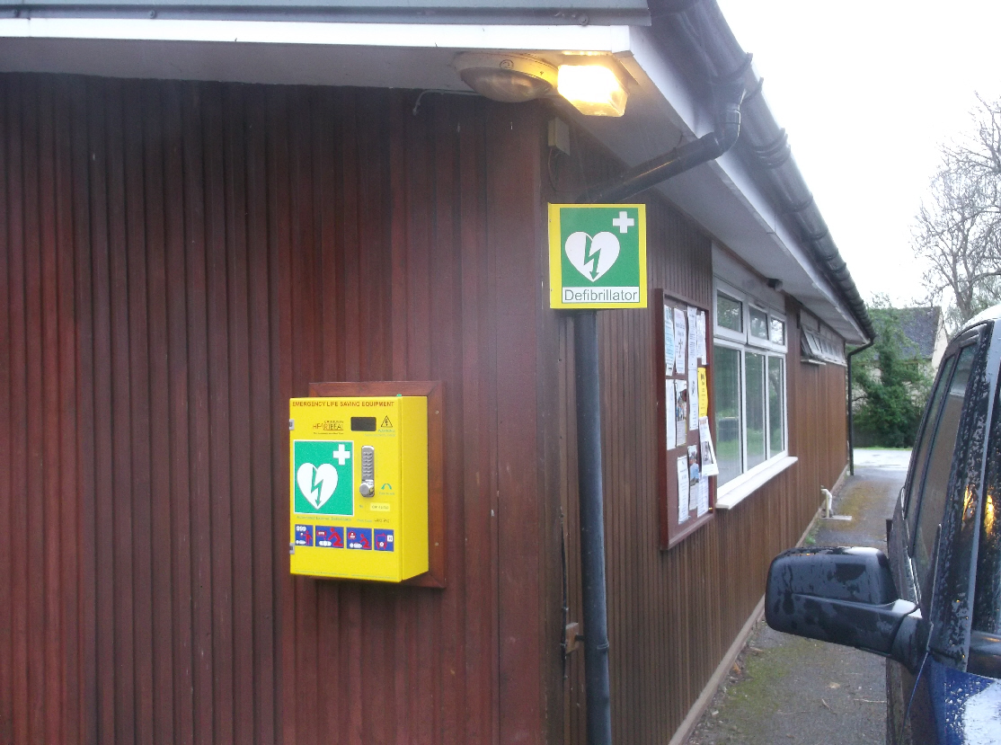 Location of defibrillator in Willersey