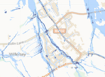 Willersey Flood Map