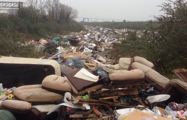 Example of Fly Tipping