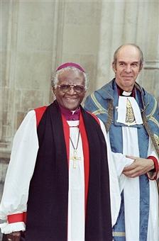 Canon Anthony Harvey with Archbisop Tutu