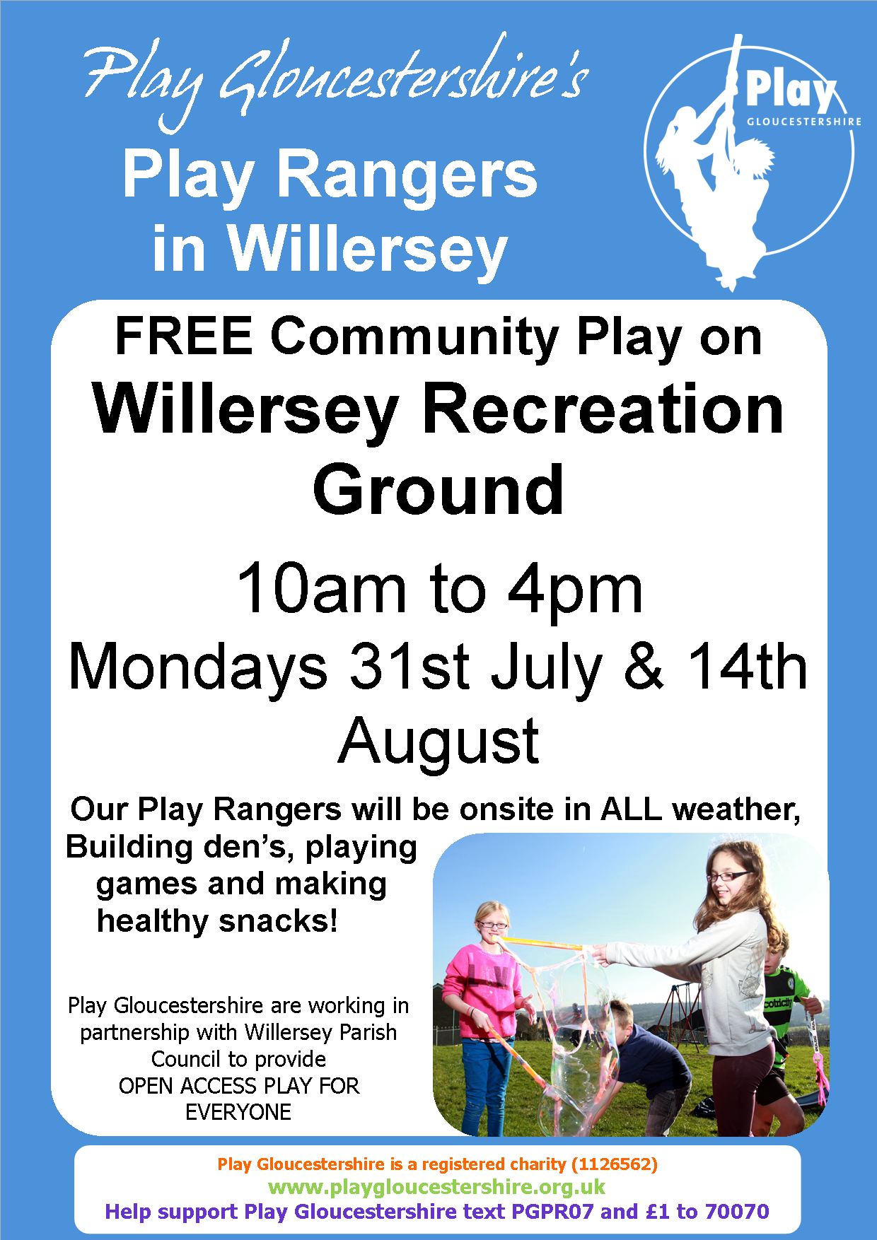 Willersey Recreation Ground Play Poster