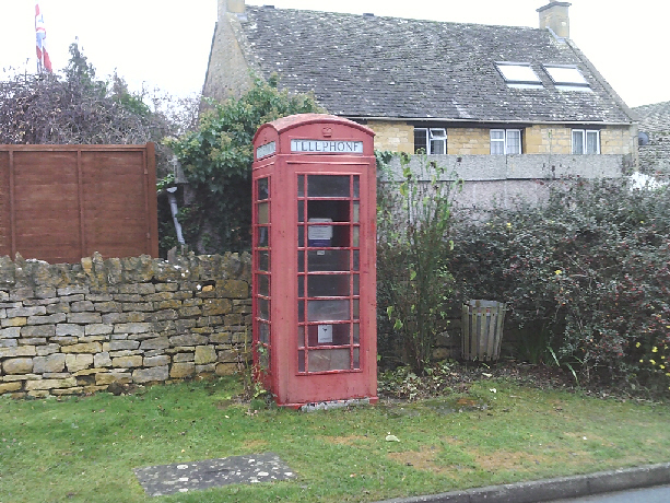 Telephonee box in Ley Orchard