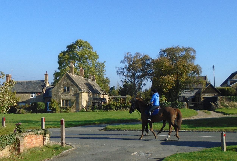 Horse riders in Willersey