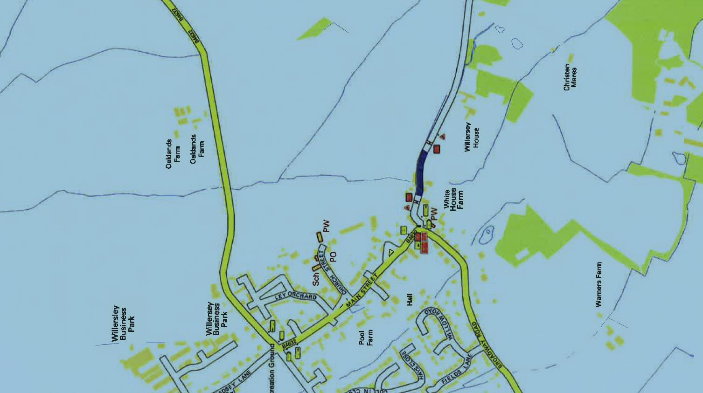 Campden Lane Closure Map